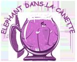 Logo éléphant dans la canette